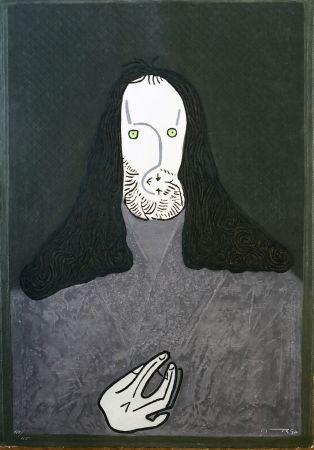 Aguafuerte Ortega - Ritratto mistico di monaco