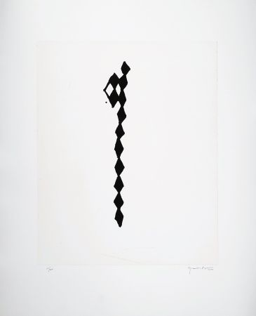 Grabado Hernandez Pijuan - Rofe negro IV
