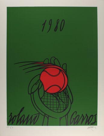 Litografía Adami - Roland Garros (vert)