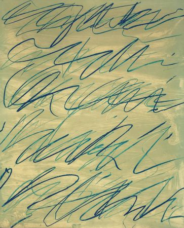 Litografía Twombly - Roman Notes V is a Numbered Lithograph by Cy Twombly
