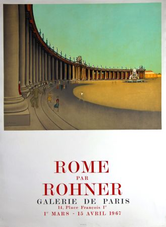 Litografía Rohner - Rome  Galerie de Paris