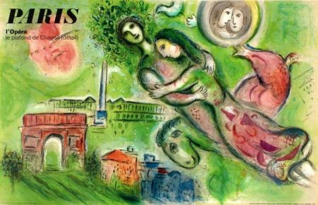 Litografía Chagall - Romeo And Juliet