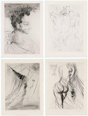 Libro Ilustrado Dali - Ronsard : LES AMOURS DE CASSANDRE. 18 pointes-sèches originales. 1968.