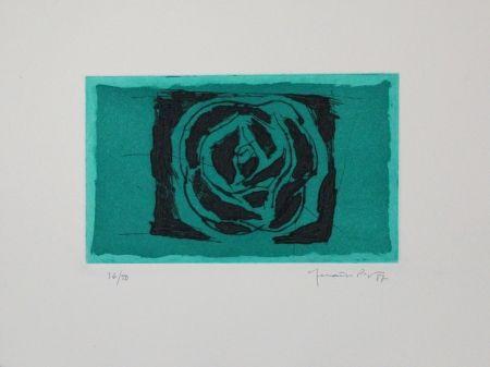 Aguafuerte Y Aguatinta Hernandez Pijuan - Rosa verda / Green Rose