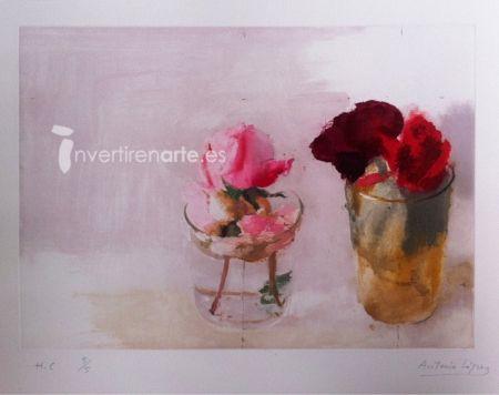 Grabado López Garcia - Rosas de invierno 1