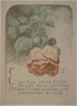 Litografía Amiet - Rose