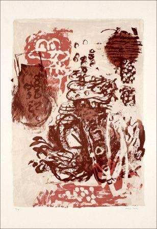 Litografía Grau - Rose et marron