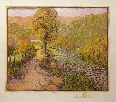 Grabado En Madera Baumann - Rose Farm