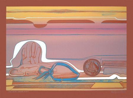 Litografía Gilot - Rose of the Desert