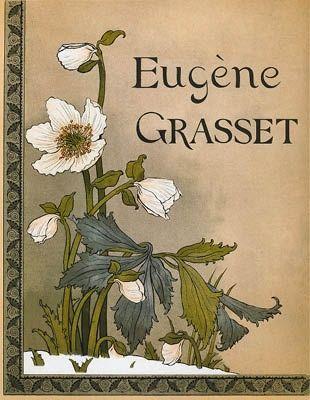 Litografía Grasset - Roses de Noël / Christmas Roses