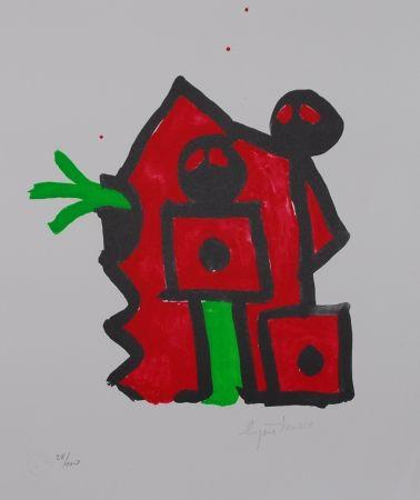 Litografía Ionesco - Rouge au noir