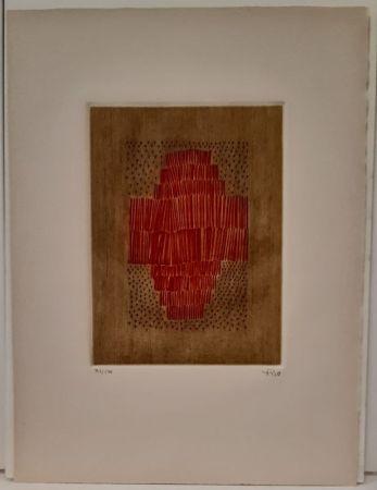 Grabado Piza - Rouge en croix