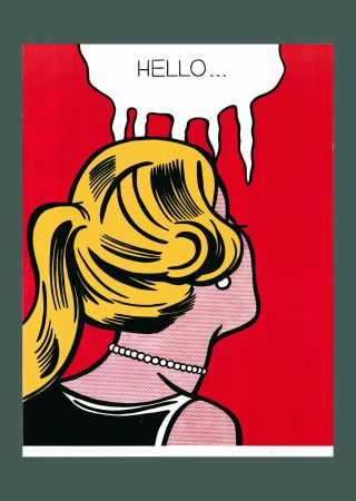 Litografía Lichtenstein - Roy Lichtenstein 'Cold Shoulder', Original Pop Art Poster, Hand Signed, 1987