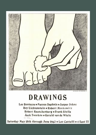Litografía Lichtenstein - Roy Lichtenstein 'Foot Medication (Castelli Mailer)', 1963 Hand Signed Original Pop Art Poster with COA