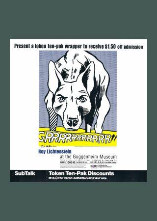 Litografía Lichtenstein - Roy Lichtenstein 'Grrrrrrrrrrr!!' 1993 Hand Signed Original Pop Art Poster
