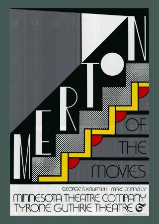 Serigrafía Lichtenstein - Roy Lichtenstein 'Merton Of The Movies' 1968 Original Pop Art Poster with COA