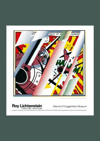 Litografía Lichtenstein - Roy Lichtenstein 'Reflections: Whaam!' 1993 Original Pop Art Poster