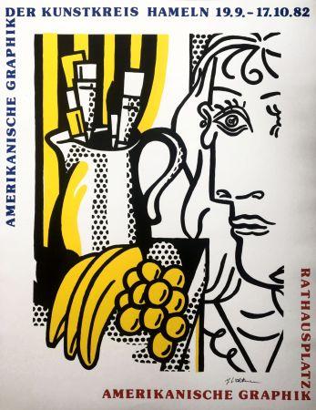 Serigrafía Lichtenstein - Roy Lichtenstein 'Still Life With Picasso' 1982 Hand Signed Original Pop Art Poster