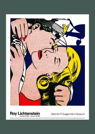 Litografía Lichtenstein - Roy Lichtenstein 'The Kiss' 1993 Original Poster