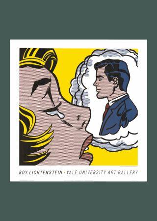 Sin Técnico Lichtenstein - Roy Lichtenstein 'Thinking of Him' 1991 Original Pop Art Poster Print