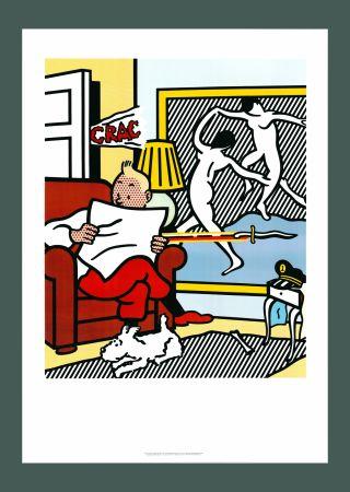 Litografía Lichtenstein - Roy Lichtenstein 'Tintin Reading' 1994 Original Pop Art Poster