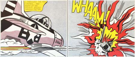 Litografía Lichtenstein - Roy Lichtenstein 'WHAAM!' 1986 Original Pop Art Diptych Poster Set