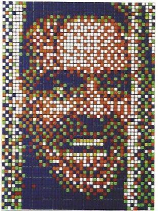 Serigrafía Space Invader - Rubik Kubrick II