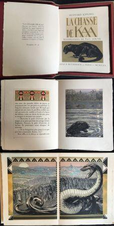 Libro Ilustrado Jouve - Rudyard Kipling : LA CHASSE DE KAA. Illustrations de Paul Jouve (1930)