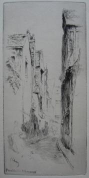 Grabado Leheutre - Rue du Petit Gars, à Tours