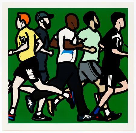 Serigrafía Opie - Running Men