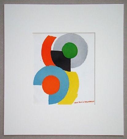 Litografía Delaunay - Rythmes circulaires, 1949