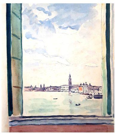 Litografía Marquet - Séjour à Venise