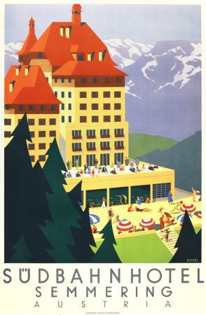 Litografía Kosel - Südbahnhotel Semmering Austria
