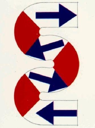 Litografía Sugai - S (Flèches bleues)