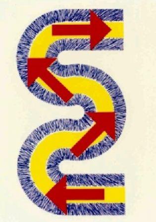 Litografía Sugai - S (Flèches rouges)