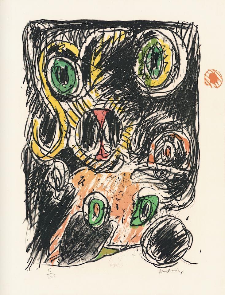 Litografía Alechinsky - Sac des lignes