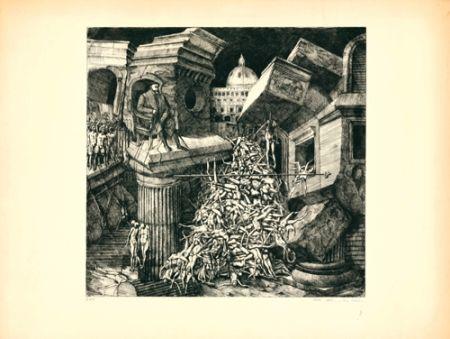 Aguafuerte Y Aguatinta Ackermann - Sacco di Roma