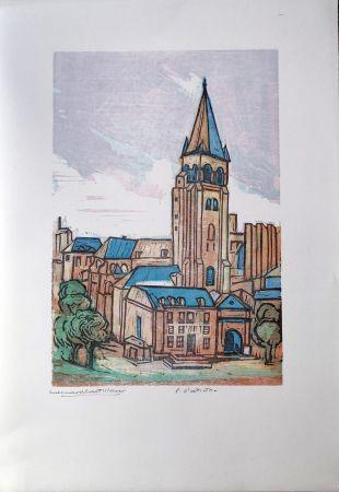 Linograbado Castellani - Saint-Germain des prés