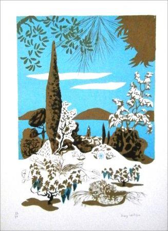 Litografía Lartigue - Saint-Tropez (paysage)