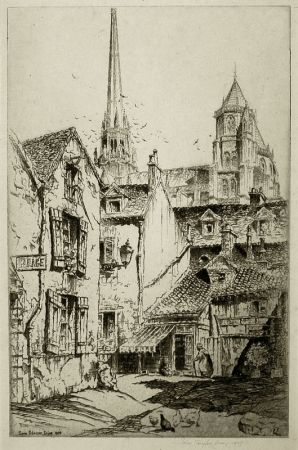 Grabado Arms - Saint Benigne, Dijon