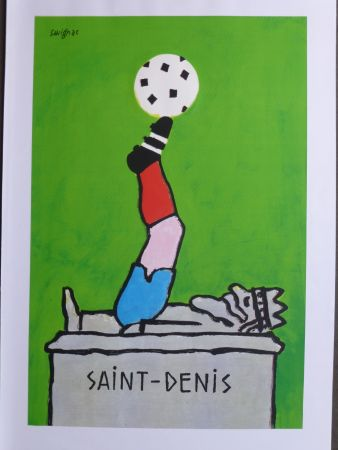 Cartel Savignac - Saint Denis (coupe du monde de football) 1998