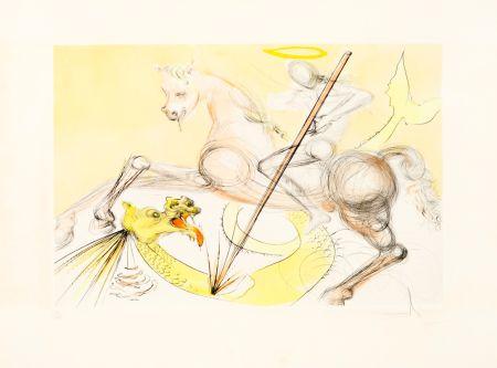 Aguafuerte Dali - Saint Georges et le Dragon