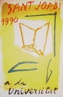Litografía Ràfols Casamada - Saint Jordi 1990