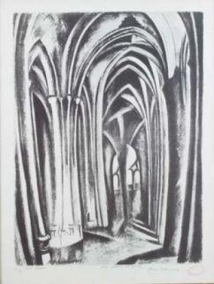 Litografía Delaunay - Saint severin