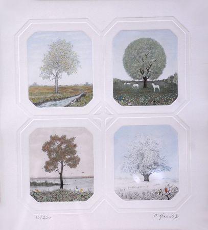 Aguafuerte Hauck - Saisons des Arbres - Season Trees