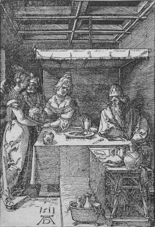Grabado En Madera Durer - Salome Presenting the Head of John the Baptist to Herodias