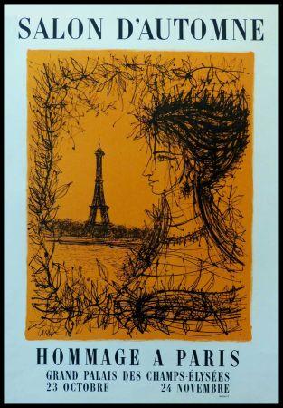 Cartel Carzou - SALON D'AUTOMNE HOMMAGE À PARIS