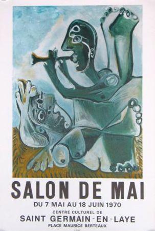 Litografía Picasso - '' Salon de Mai ''