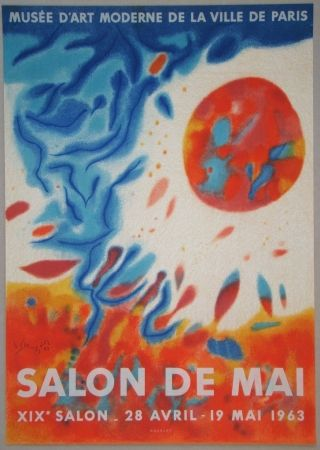 Litografía Singier - Salon De Mai