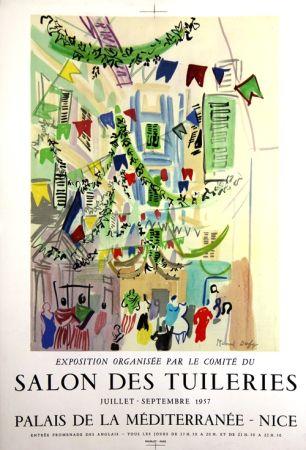 Litografía Dufy - Salon des Tuileries  Palais de la Mediterranée